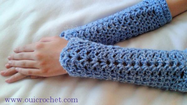 #OuiCrochet, Crochet, Free Crochet Pattern, Crochet Arm Warmers, Arm Warmers, Crochet Gifts,