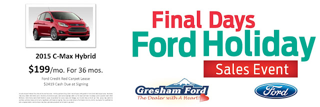 2015 Ford C-Max Year End Special at Gresham Ford