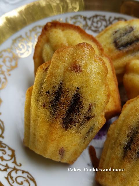 Madeleines mit Nussnougatcreme (Nutella)