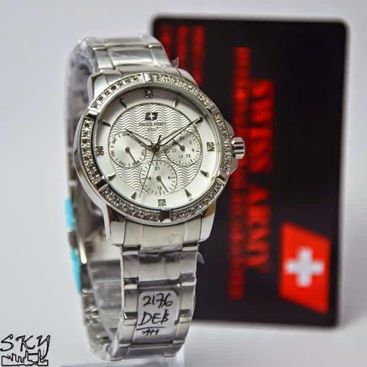 Swiss Army SA 2176 SS Lady silver putih