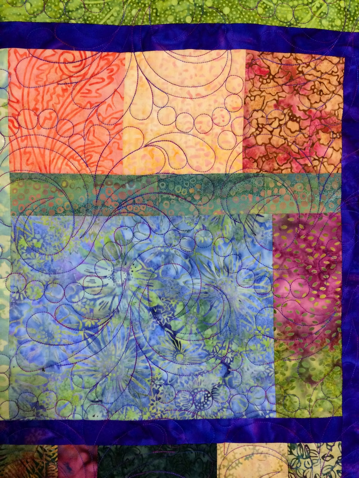 Peggy Krebs Crazy Batiks Quilt
