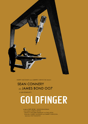 Gold finger Movie Poster James Bond 007