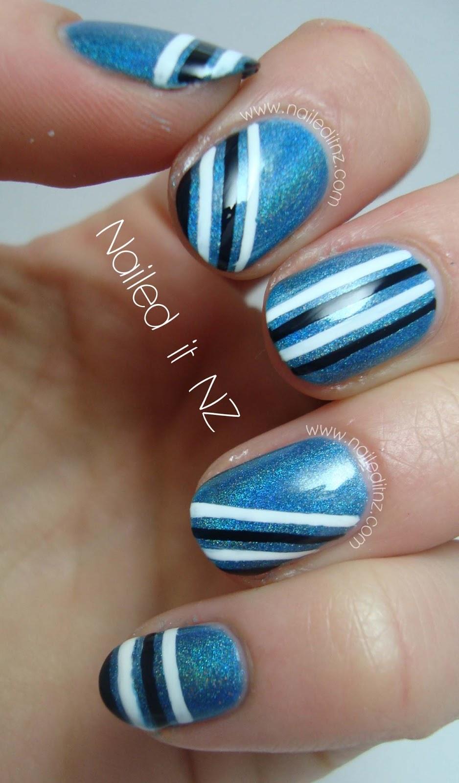 BPS Holographic nail polish - #8 Bright Blue