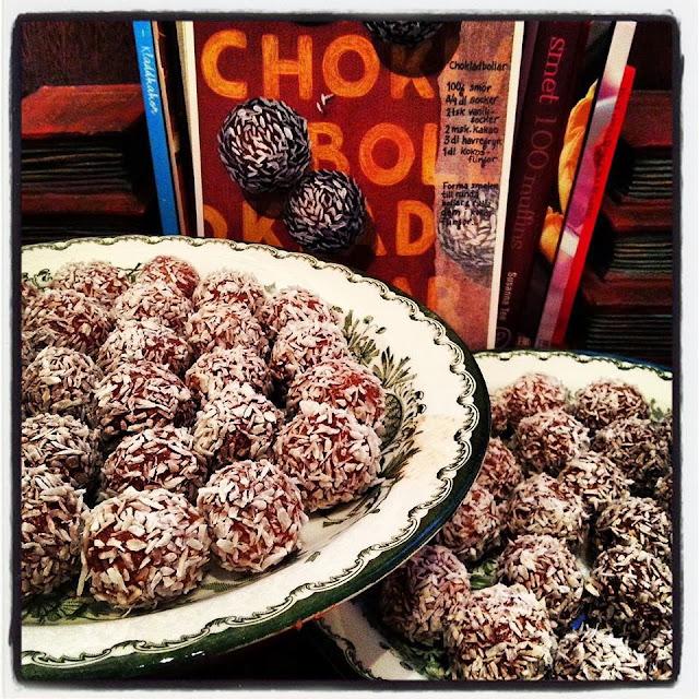 chokladbollar recept per morberg
