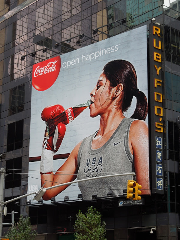 Coke Olympics 2012 womens boxing billboard NYC