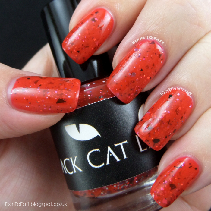Black Cat Lacquer Aries swatch.