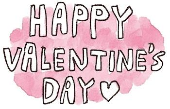 「Happy Valentine's Day」のイラスト文字