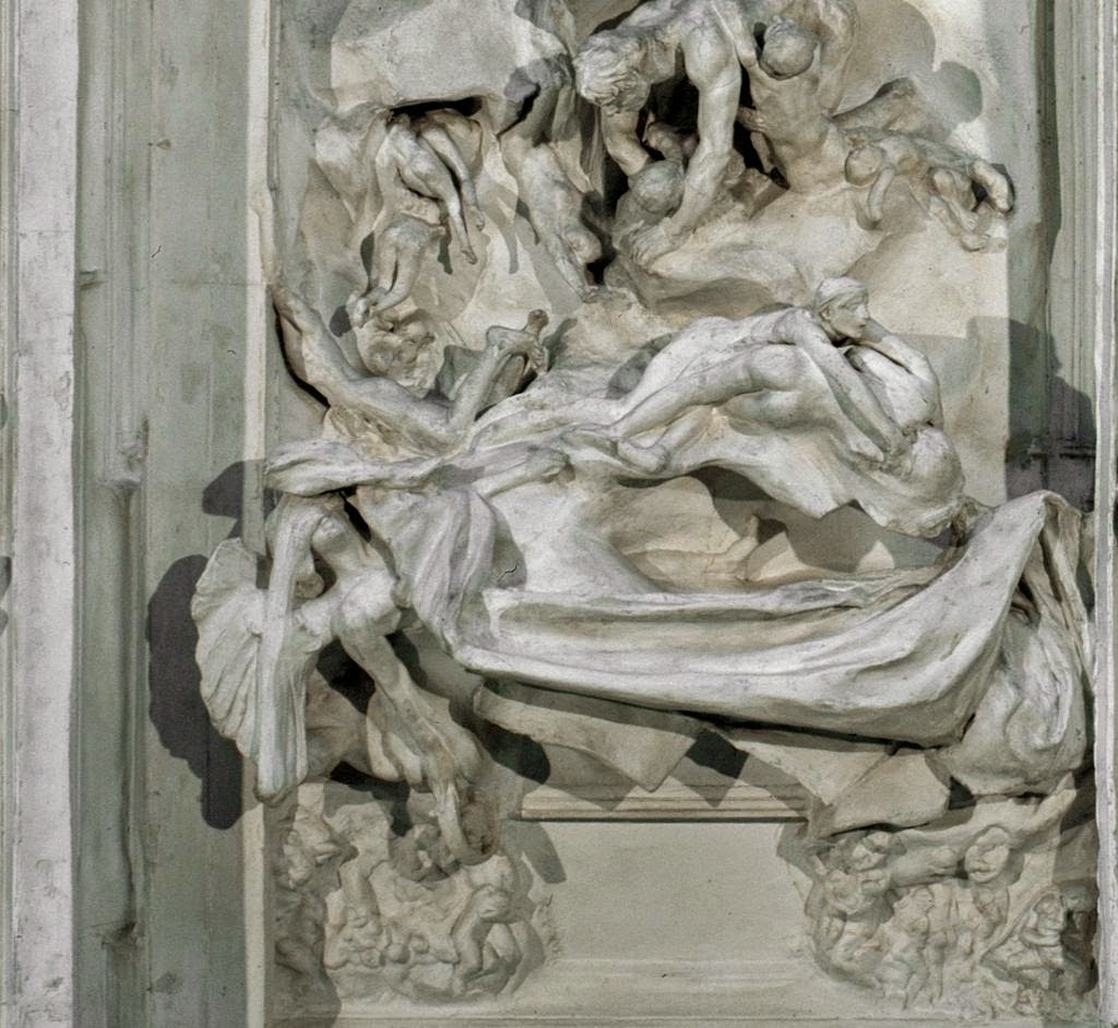 Auguste Rodin (1840-1917) Left door panel detail of The Gates of Hell & ArtWithHillary: Thinking About \