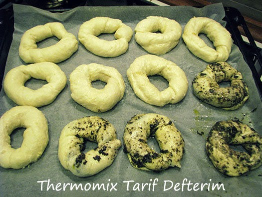 Step by step Turkish bagel Acma recipe with Thermomix