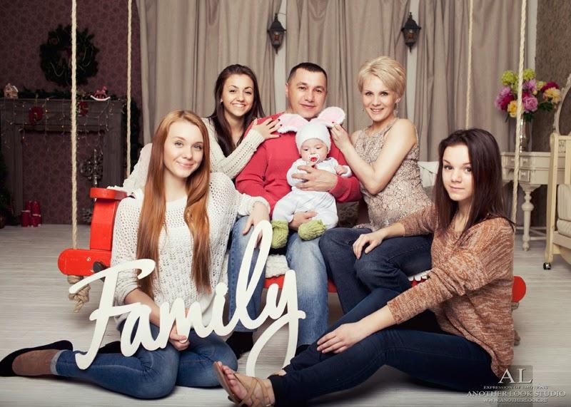 красивая семейная фотосессия