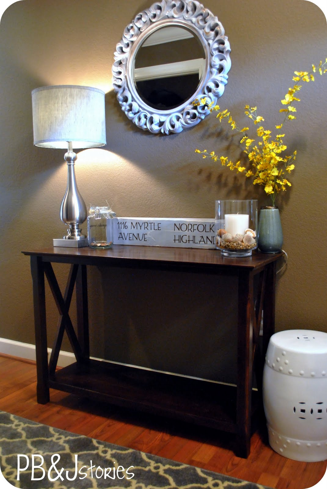 Foyer Table Decor : Pbjstories wood wall signs my favoritest diy projects