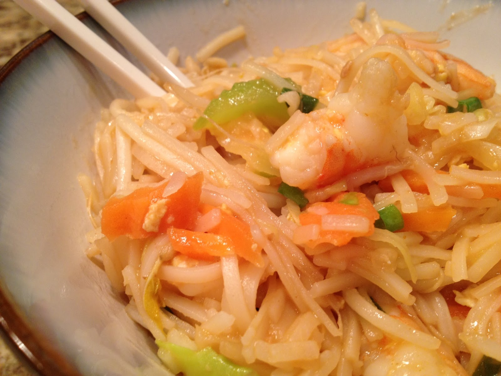 a healthy makeover shrimp pad thai
