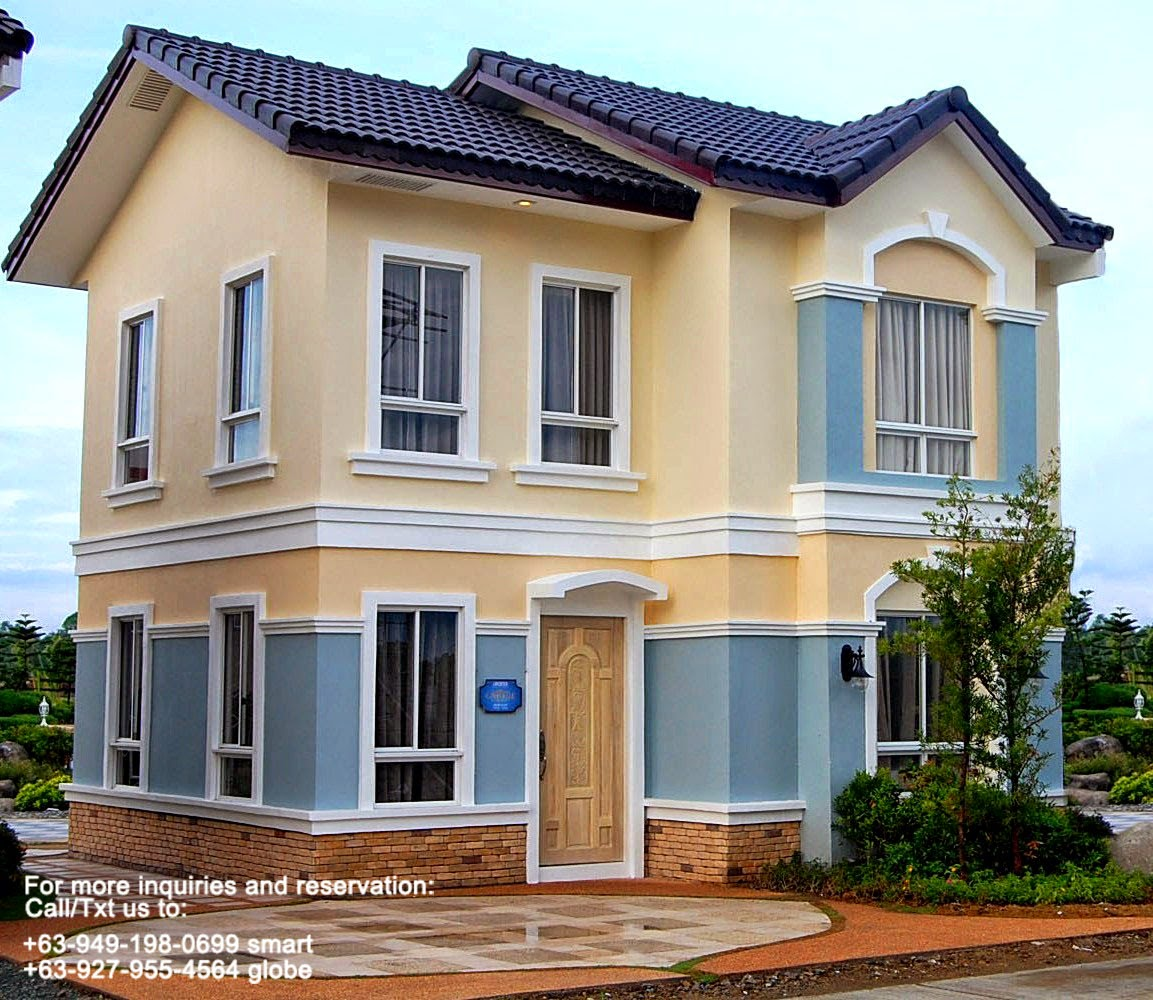 Single attached house for sale lancaster cavite philippines for Houses models