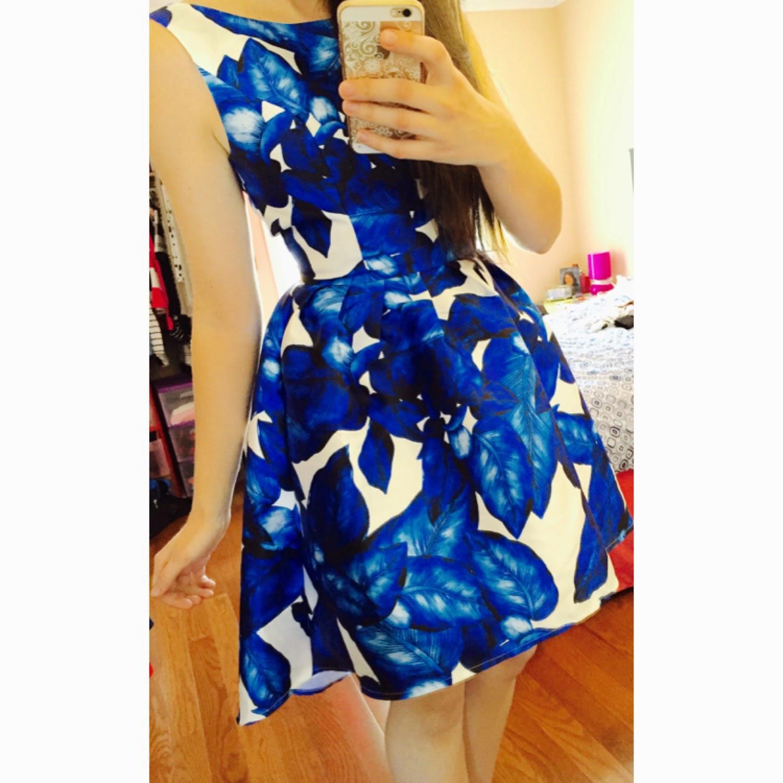 chichi london dress, essie dress, chichi london essie dress, blue floral dress,