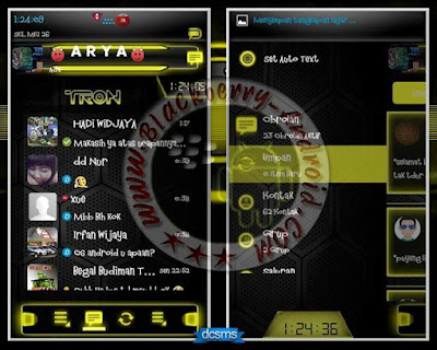 BBM Mod Droid Chat Warna Kuning v2.8.0.21 Apk