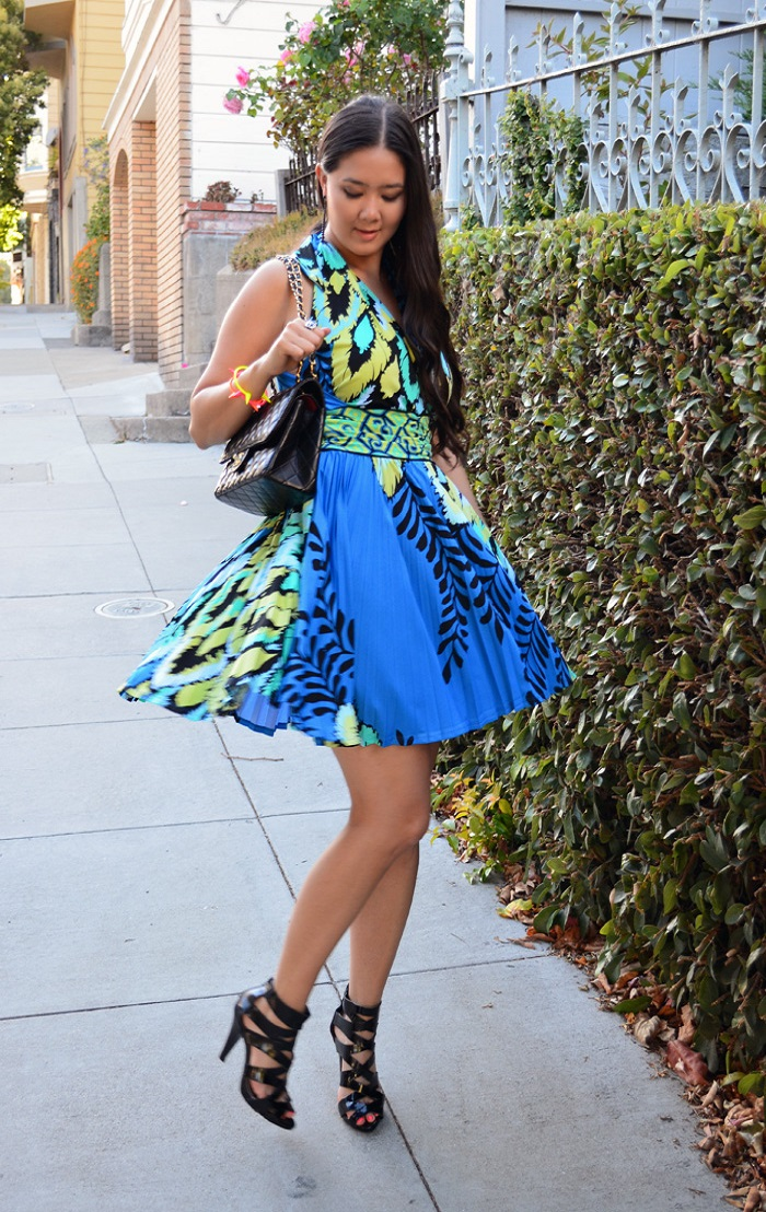 hale bob blue dress