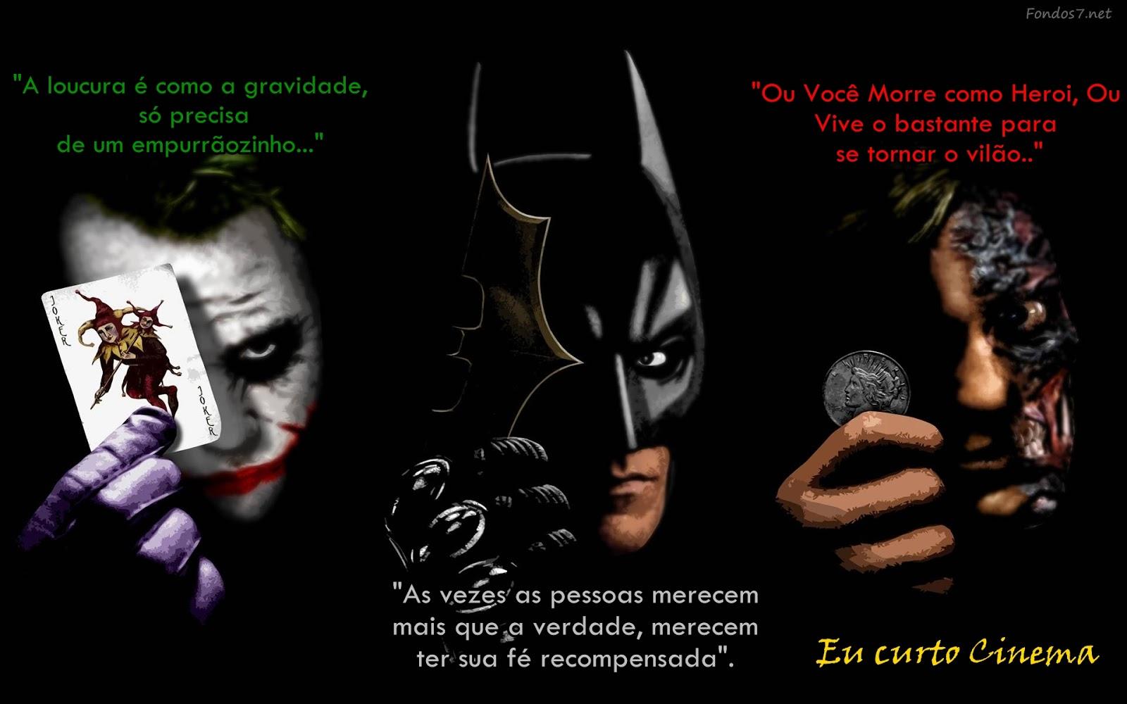 Eu Curto Cinema Frase Batman O Cavaleiro Das Trevas