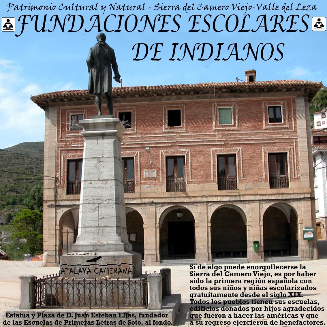 Sierra del Camero Viejo - Valle del Leza. Patrimonio Cultural y Natural. Fundaciones Escolares de Indianos.