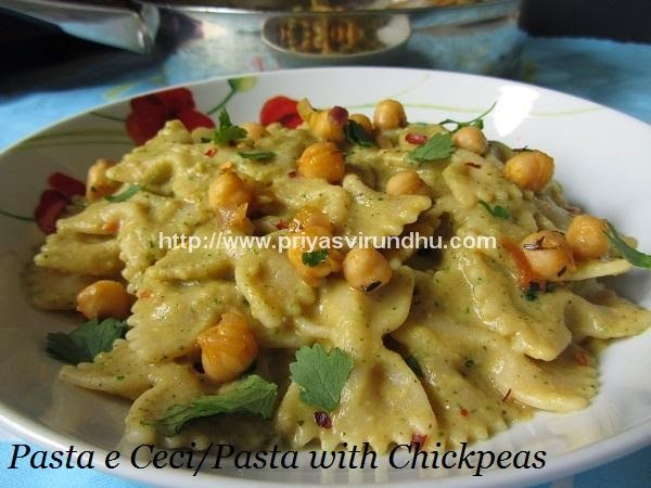 pasta with chickpeas/pasta e ceci – indian version [vegetarian]
