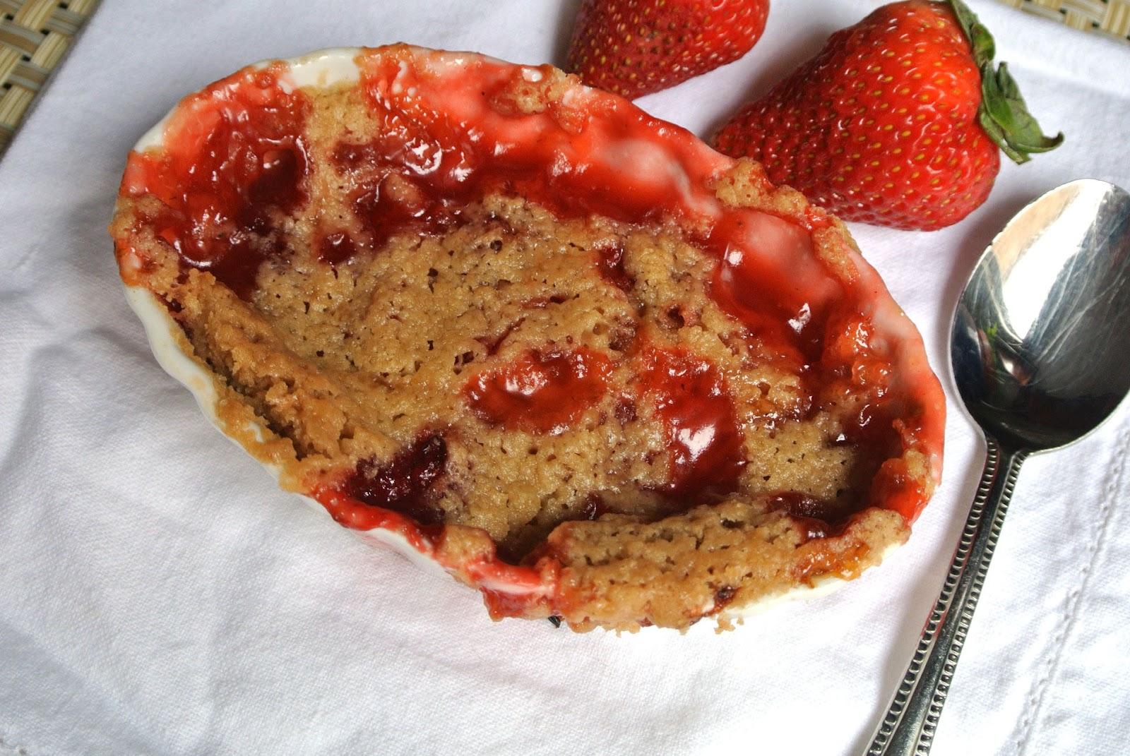 Gluten Free Strawberry Cobbler (sugar free option below)