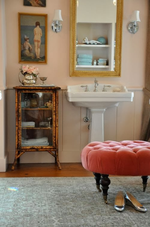 Lisa mende design 7 favorite soft pink paint colors - Pink bathroom color schemes ...
