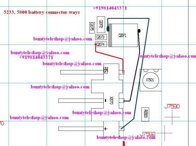 Nokia 5233 Battery Connector Ways