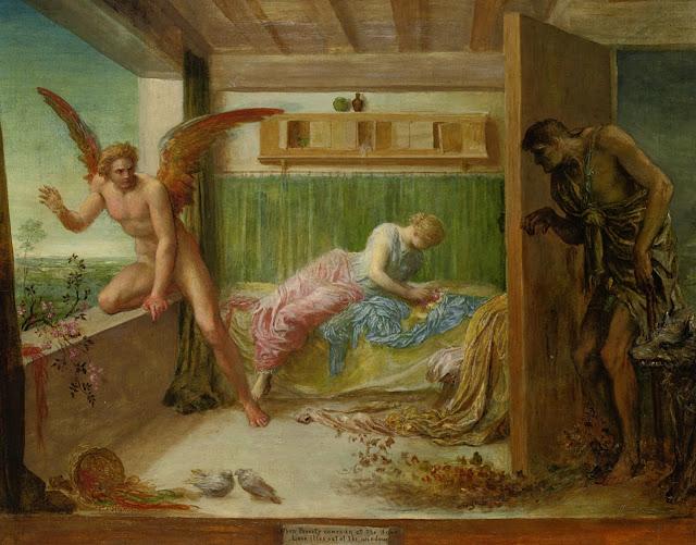 poverty,love,symbolist painting