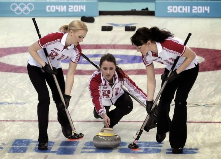 Anna Sidorova, Alexandra Saitova and Ekaterina Galkina - Sochi Winter Olympics 2014