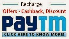 PayTM Recharges & Bill Payments, DTH Recharge offers