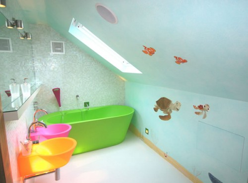 BANHEIROS PARA CRIANÇAS   Kids Bathroom Design Idea