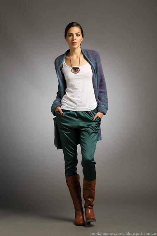 Sacos tejidos Sathya moda invierno 2013.