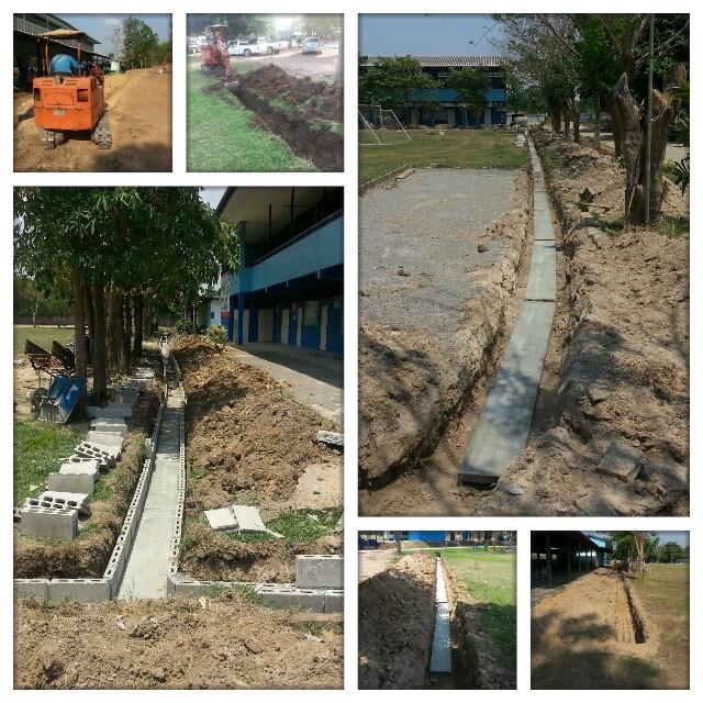 การพัฒนาระบบโครงสร้างพื้นฐานของโรงเรียนบ้านทุ่งกระถิน