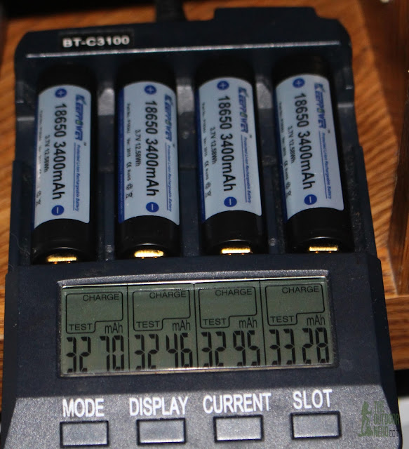 KeepPower 3400 mAh 18650 Cells Charge Test