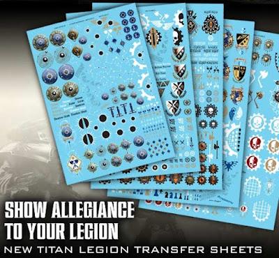 Hojas de calcas para las legiones de titanes