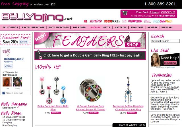 Navel Jewelry Exclusive by BellyBling.Net