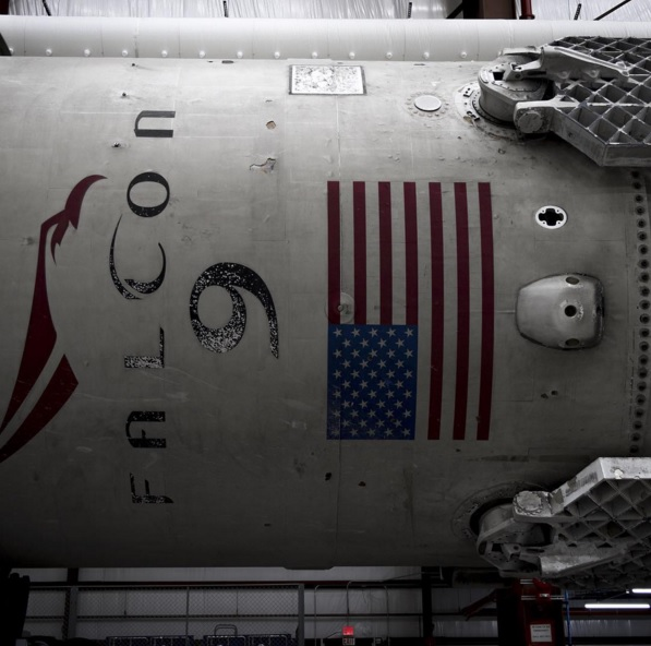 New photos of SpaceX booster show sooty, but undamaged rocket
