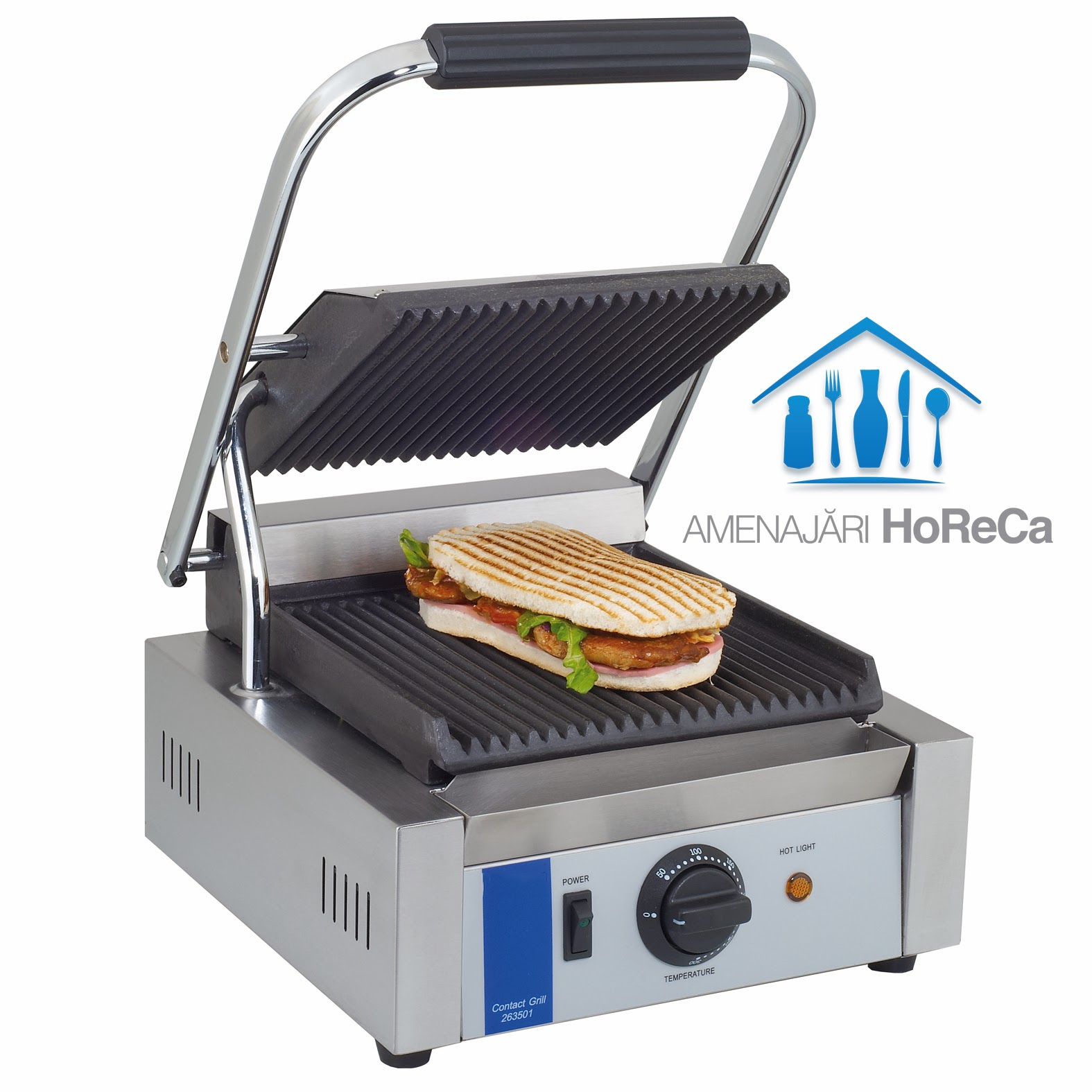 Contact Grill, Model Simplu, Utilaje Fast Food, Contact Grill Pret