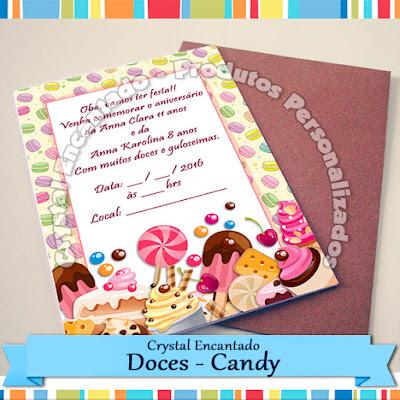 Adesivos personalizados doces - Candy