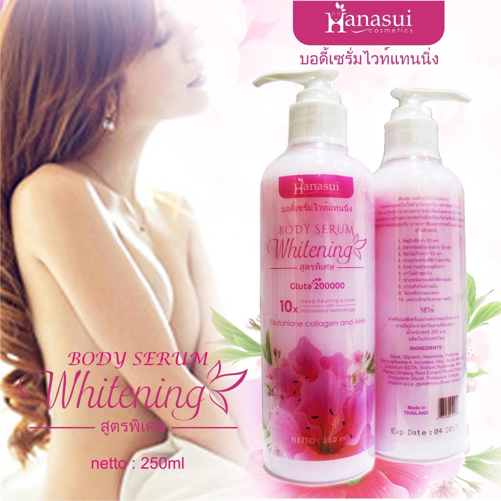 Katalog Belanja Online Hanasui Body Whitening Serum Gold Bpom Original