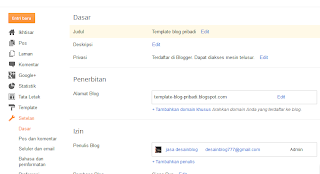 Cara membuat blog gratis dan mudah di blogspot