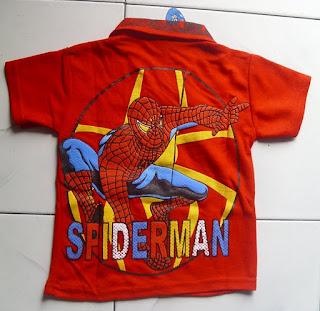 Kaos Krah Spiderman merah belakang