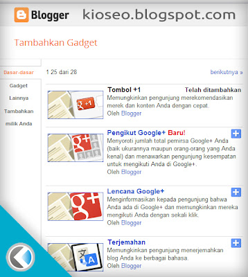 Gadget baru Blogger GFC atau Google+ Followers ?