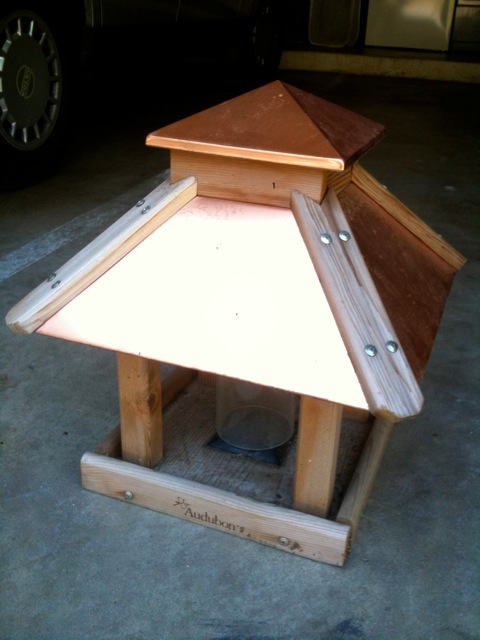 Heygreenie Audubon Coppertop Gazebo Bird Feeder Sold