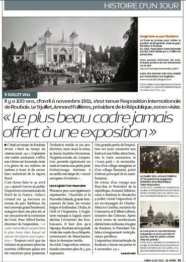 Histoire d'un jour : le 9 juillet 1911