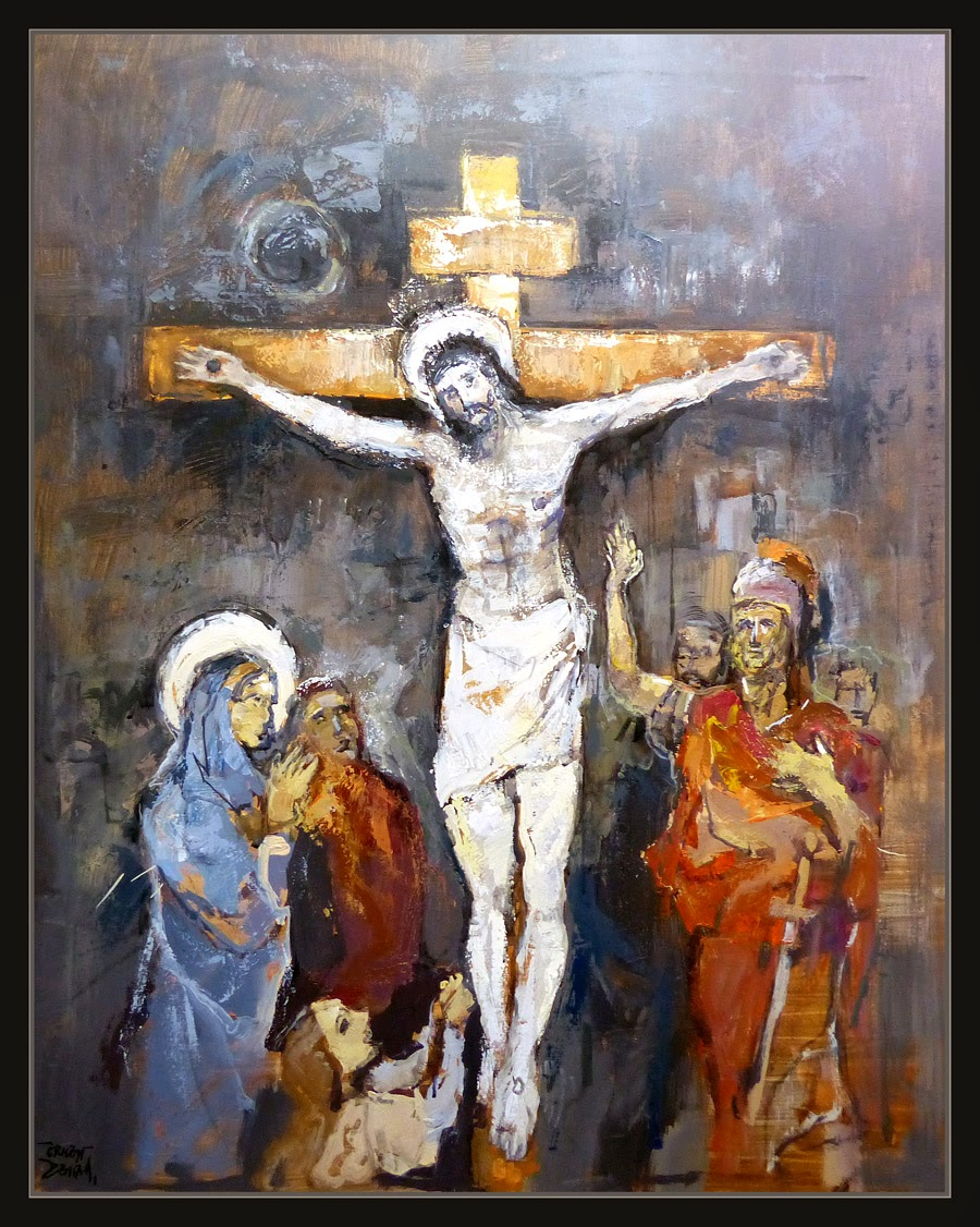 PASION-JESUCRISTO-CRUZ-ARTE-PINTURA-RELIGIOSA-VERSIONES-PINTOR-ERNEST DESCALS