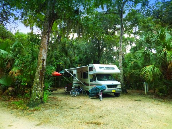 Tomoka State Park Florida campground 1994 tioga montara