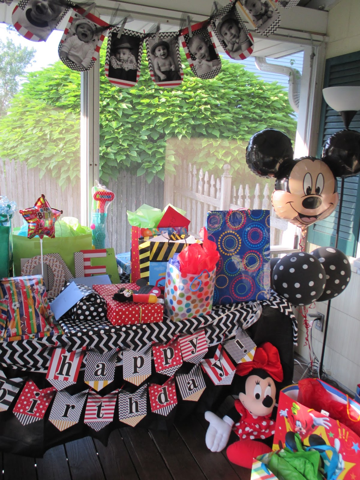 Pink Polka Dots and Pre K Mickey Mouse Clubhouse 1st Birthday