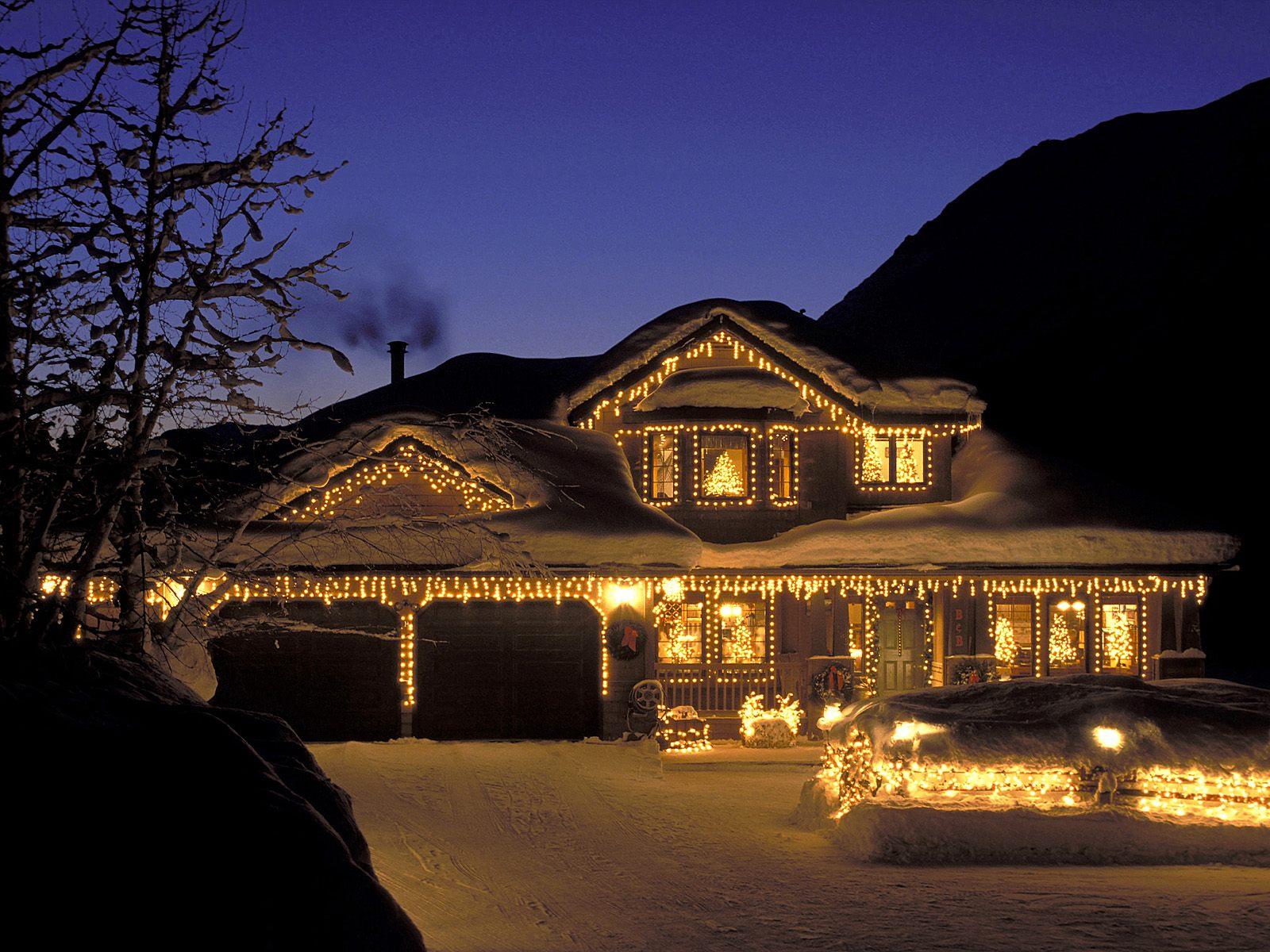 Casas decoradas para la navidad navidad im genes de la - La casa de la navidad ...