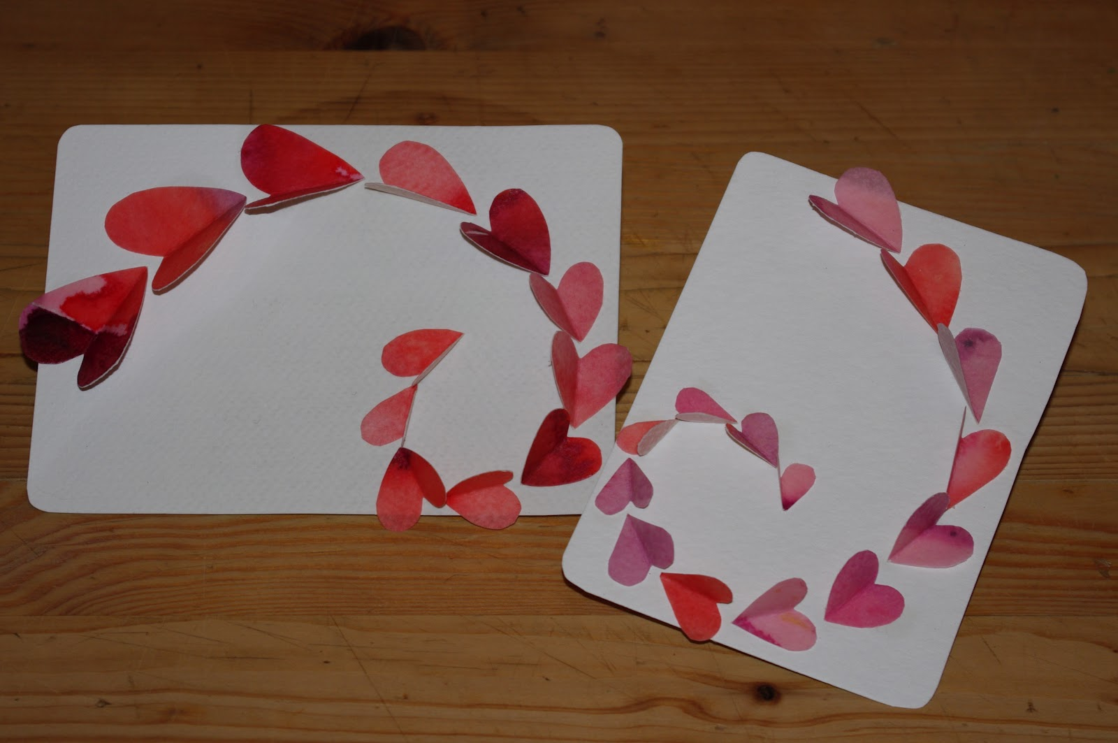 passengers on a little spaceship making paper for valentines cards – Valentine Cards Making