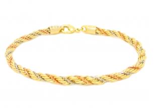 pulseira cordão baiano folheada semijoia